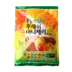팥모아 빙수용 과일맛 젤리 500g 팥빙수
