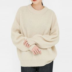 mono drop shoulder wool knit