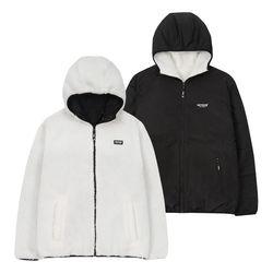 [예약판매 11/8 발송] Logo Reversible Hood Zipup (off white/black)
