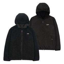 Logo Reversible Hood Zipup (black)