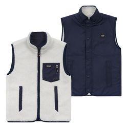 [예약판매 11/8 발송] Logo Reversible Vest (ivory/navy)
