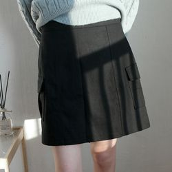 simple cargo mini skirts (2colors)