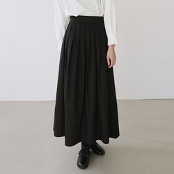 [skirt] 플리츠 롱 스커트