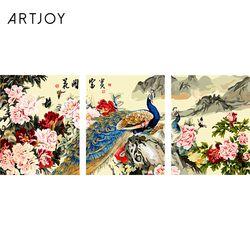 아트조이 DIY 명화그리기 공작과 모란꽃 (3단세트)