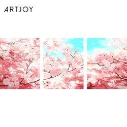 아트조이 DIY 명화그리기 벚꽃하늘 (3단세트)