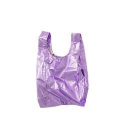 [바쿠백] 소형 베이비 에코백 장바구니 Lilac Metallic