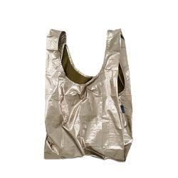 [바쿠백] 휴대용 장바구니 접이식 시장가방 Bronze Metallic