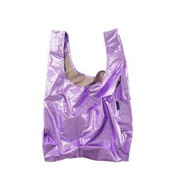 [바쿠백] 휴대용 장바구니 접이식 시장가방 Lilac Metallic
