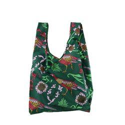 [바쿠백] 휴대용 장바구니 접이식 시장가방 Green Pheasant