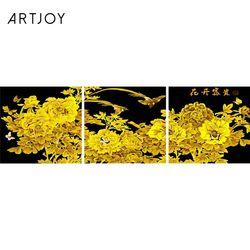 아트조이 DIY 명화그리기 GOLD FLOWER (골드펄) (3단세트)