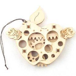 [WOODTRICK] 사과 (WDT190159) DIY 우드토이 3D 목재 퍼즐