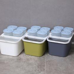 심플 오픈형 쌀통10kg+잡곡통4P