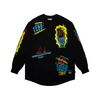 SPECULAR LAYERED LONG SLEEVES T-SHIRTS BLACK