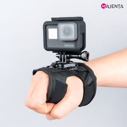 마젠타 고프로 액션캠 360도 회전 손등스트랩