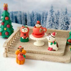 크리스마스 화이트 계단광장 피규어