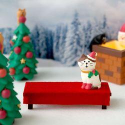 크리스마스 빨간평상 피규어