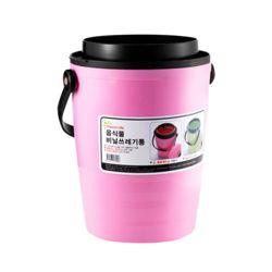 국산 음식물 쓰레기통 3L (핑크)