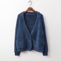 Angora Button Cardigan
