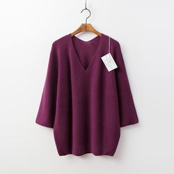 Laine Cashmere N Wool Double V-Neck Sweater