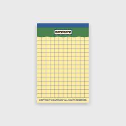 signature yellow point memo pad-green(떡메모지)