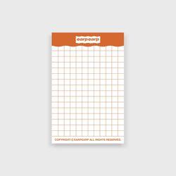 signature memo pad-orange(떡메모지)