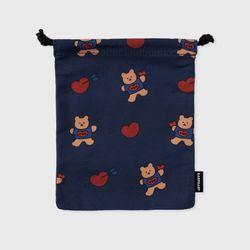 bear heart-navy(스트링 파우치)