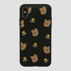 카드범퍼 꿀먹는 곰 패턴 다크브라운