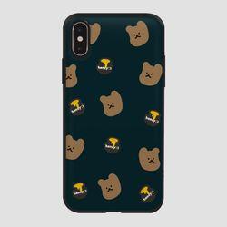 카드범퍼 꿀먹는 곰 패턴 네이비