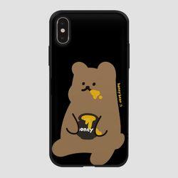 카드범퍼 꿀먹는 곰 블랙
