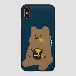 카드범퍼 꿀먹는 곰 네이비