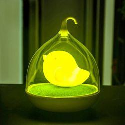 새장램프 아기새 무드등 (옐로우)