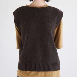 back slit point vest (3colors)