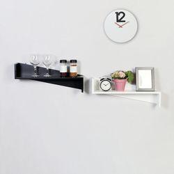 우드 Z자 인테리어 모던 벽선반 600-2색상
