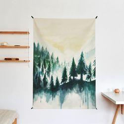 나무드로잉 패브릭 포스터.가리개커튼 (태피스트리)