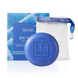 무로 빙하 청대 비누 100g + 거품망 1세트:멘톨비누