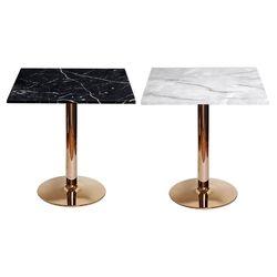대리석무늬-600사각-로즈골드3인치 티테이블