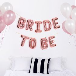 알파벳 은박풍선 세트 BRIDE TO BE 로즈골드