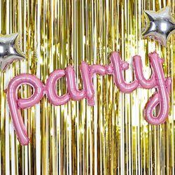 알파벳 은박풍선 세트 party 핑크