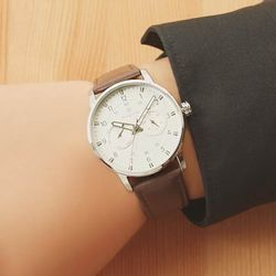 [Timepieces] 브라운 남성용 커플 가죽시계 OTC119T02ASR