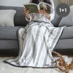 [1+1] 극세사 담요 데이 75x100cm 2장