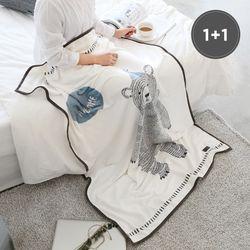 극세사 담요 어썸베어 100x150cm 2장