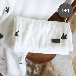 [1+1] 극세사 자수 담요 선인장 75x100cm 2장