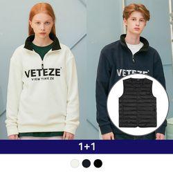 Light Down Vest + Basic Fleece Pullover
