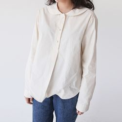 round collar nature blouse (3colors)
