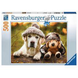 라벤스부르거 모자 쓴 강아지 500피스 직소퍼즐