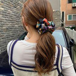 베르 스크런치 곱창 머리끈