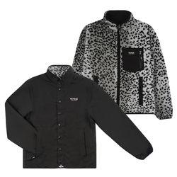 [예약판매 11/8 발송] Logo Reversible Zipup (leopard/black)