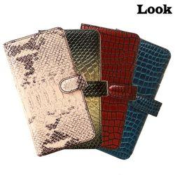 룩 아이폰11 (pro max) 뉴몬스터 월렛 천연가죽 지갑 케이스