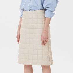 QUIL LEATHER SKIRTS IVORY