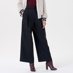 WOVEN WIDE PANTS BLACK